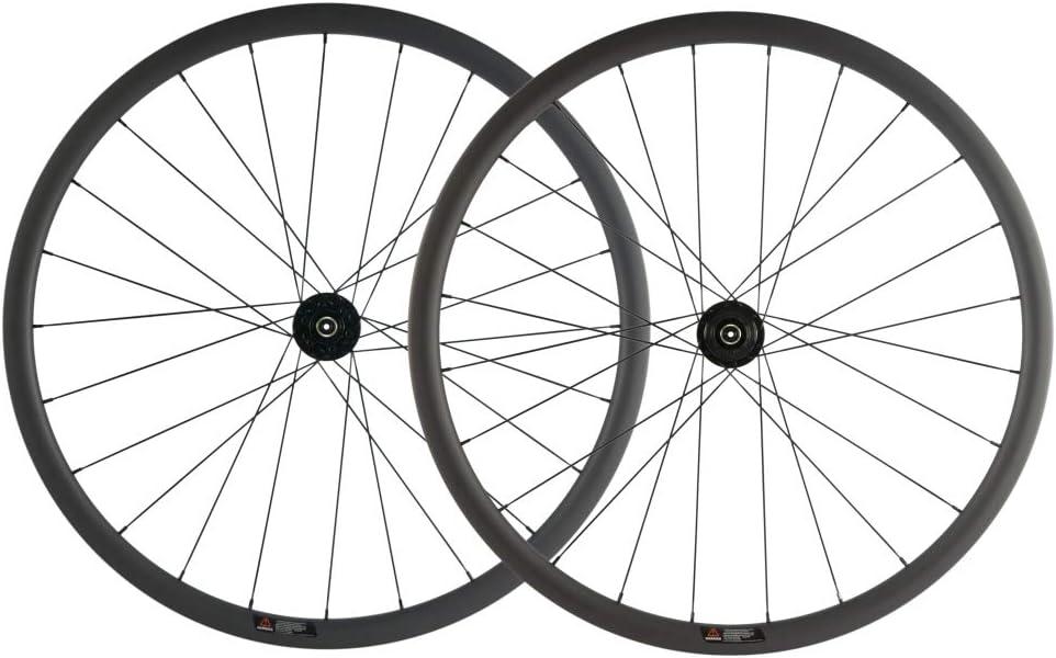 SUPERTEAM Carbon Fiber Disc Brake Wheelset 700c Road Wheel 25mm Width UD Matt 30/40/45/55mm