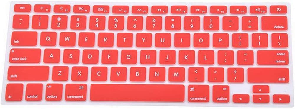 Laptop Accessories 9 Colors Silicone Laptop Keyboard Cover Skin for MacBook Pro Mac 13 15 Air 13 Soft Keyboard Stickers,Pink