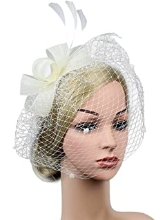 066a056cf51 Z  X Sinamay Fascinator Pillbox Hat Headband Hair Clip Cocktail Tea ...