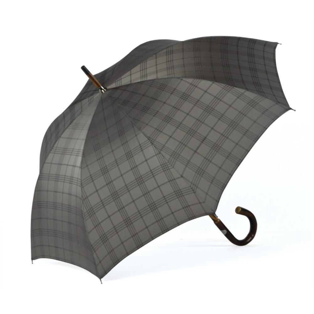 ShedRain Umbrellas Ombrelli Italian Stick Umbrella, Silver Plaid