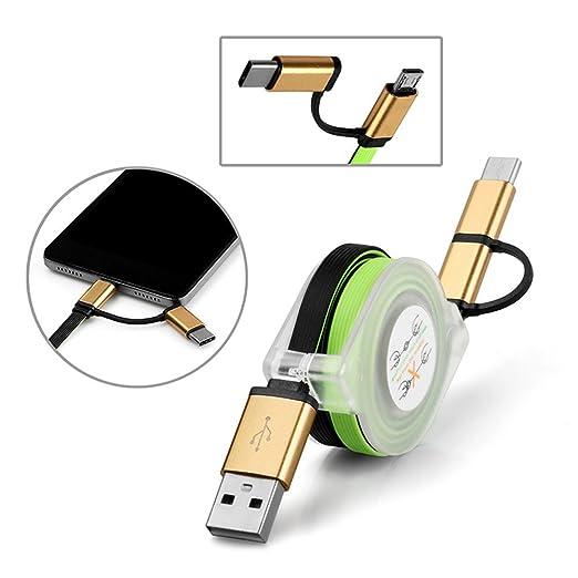 1 opinioni per Distinct® 2 in 1 retrattile tipo C & Micro USB veloce cavo dati caricabatteria