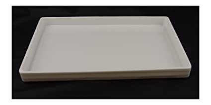 Blanco un compartimiento Heavy-duty ligera bandejas apilable de plástico