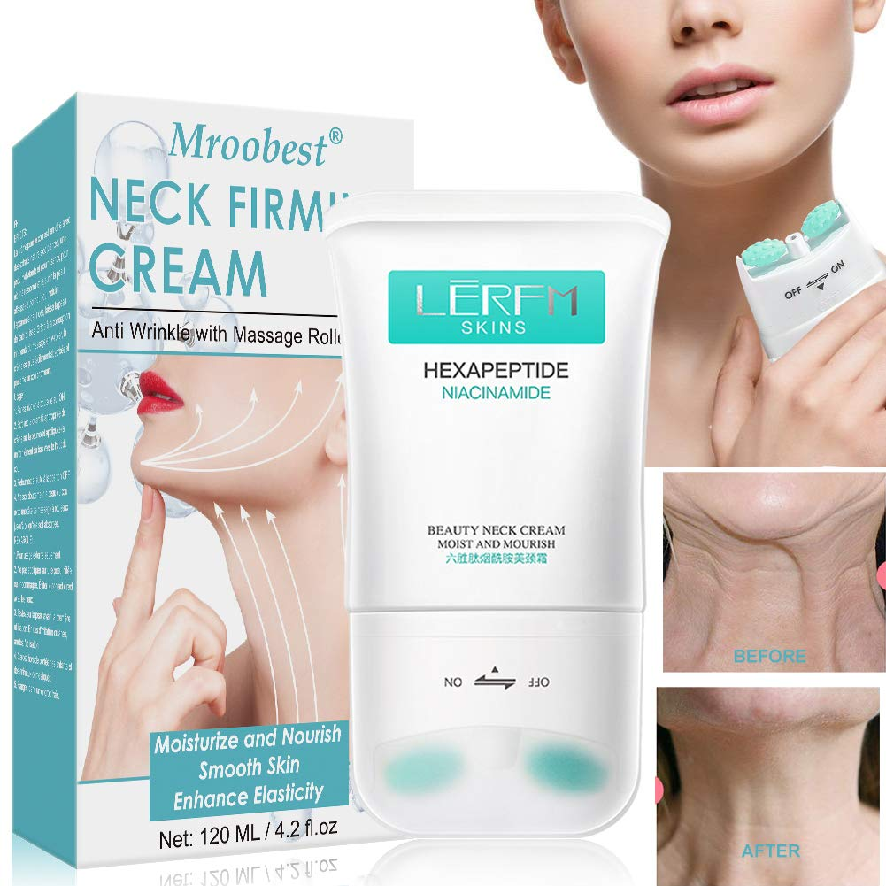Neck Firming Cream, Neck Tightening Cream, Anti Aging & Wrinkle Neck Cream, Skin Tightening, Helps Double Chin, Turkey Neck Tightener, Repair Crepe Skin: Beauty
