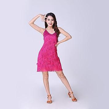 Las Mujeres Clásicas Danza Latina Falda Lentejuelas Franja De ...