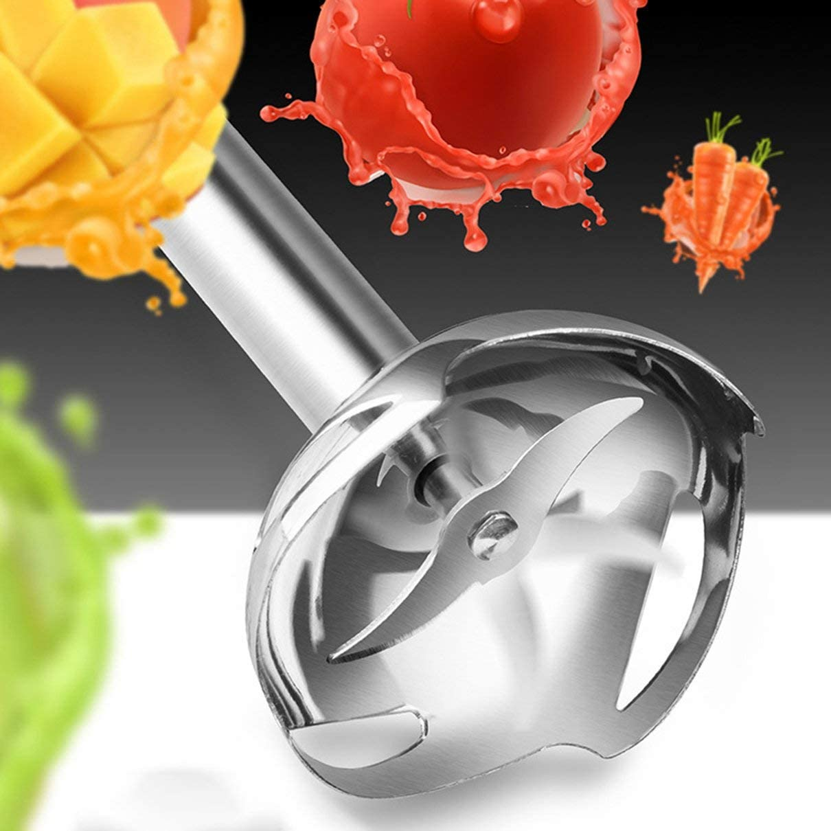 Batidora de inmersi/ón manual de acero inoxidable 4 en 1 Mezclador de verduras Picadora de carne 500Ml Picadora de licuadora 800Ml Taza de batido