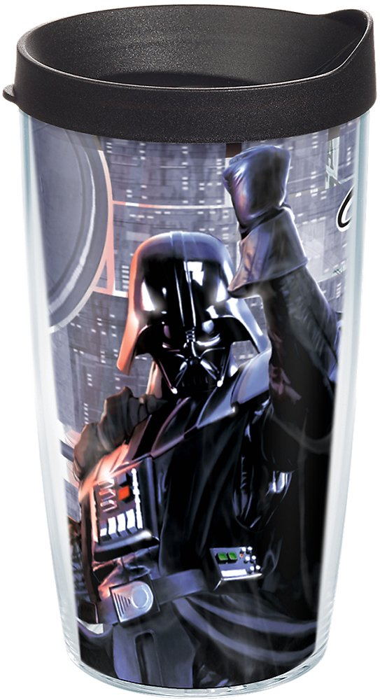 Clear Tervis 1182174 Star Wars Darth Vader I am Your Father Insulated Tumbler with Wrap 24oz