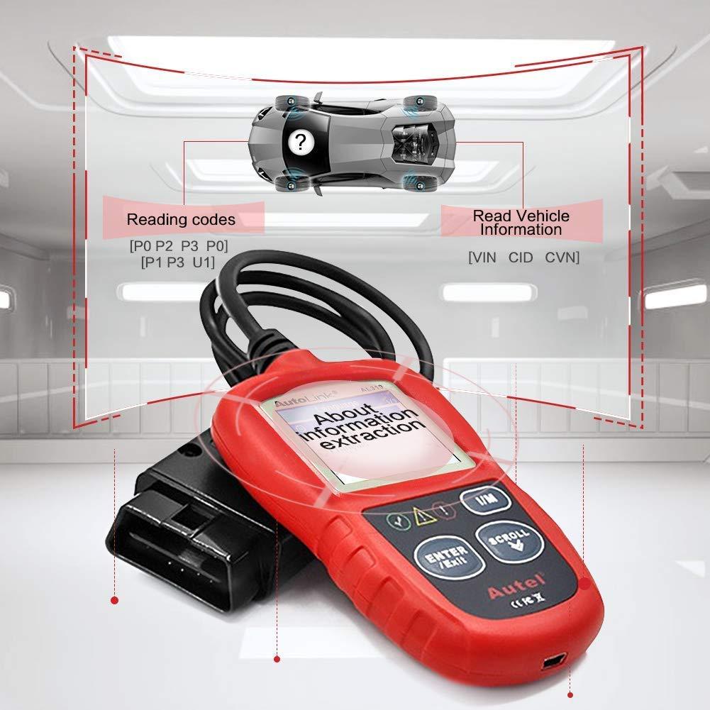Autel MaxiLink ML619 Strumento OBD-II Scansione Diagnostica Can OBD2 Spegne Luci di Avvertimento del Motore e Le Sistemi ABS//SRS