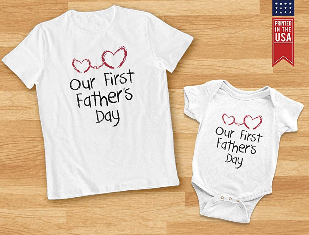 Dinosaur Fathers Day Shirt 1st Fathers Day Matching Outfits 1st Fathers Day Matching Shirts Sets Our First Fathers 1st Fathers Day Shirt