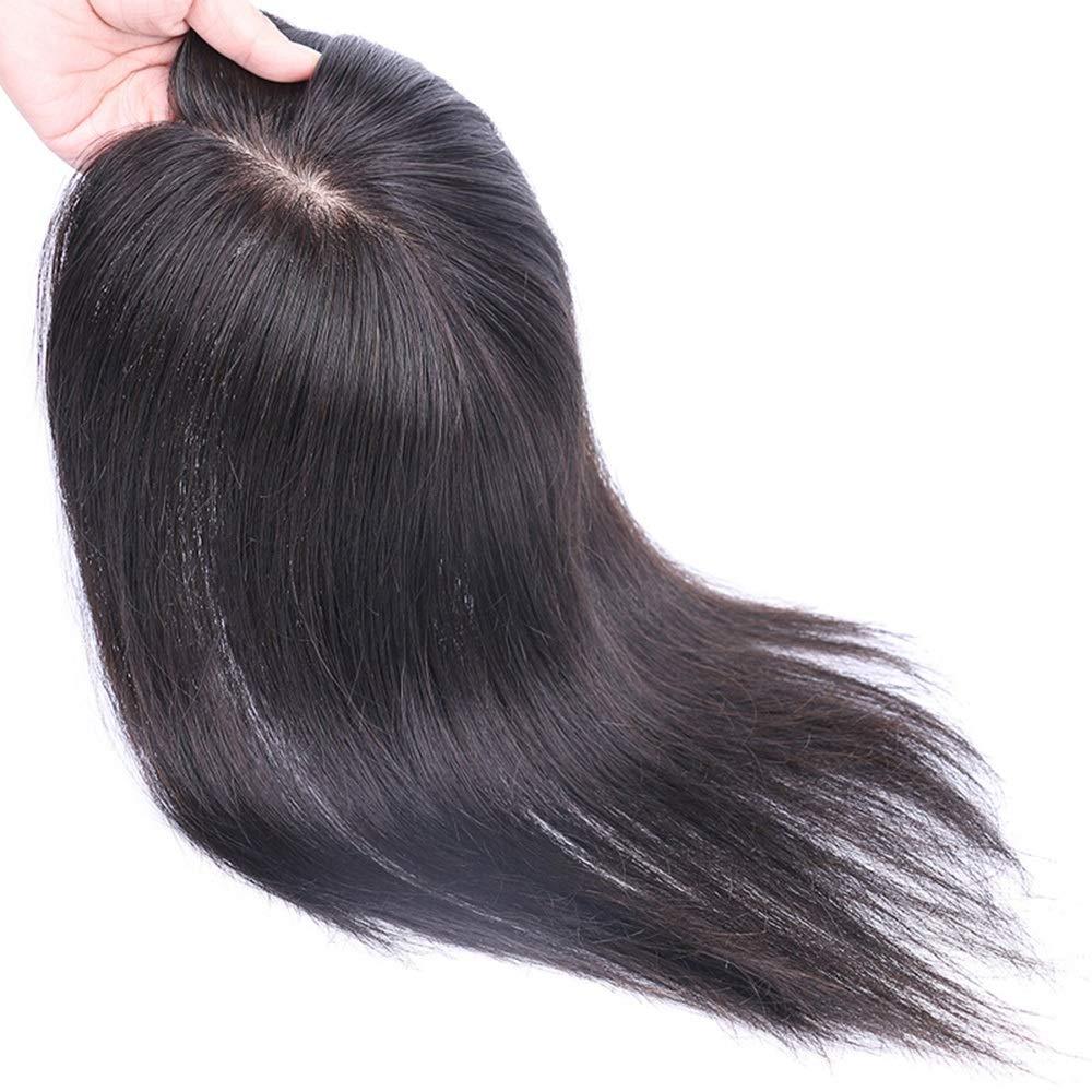 Yrattary 本物の髪の多方向スリットウィッグパーティーかつらで女性の長いストレートヘアハンドニードルナチュラルクリップ (Color : [7x10] dark brown 30cm) B07QHHSXP8 [7x10] dark brown 30cm