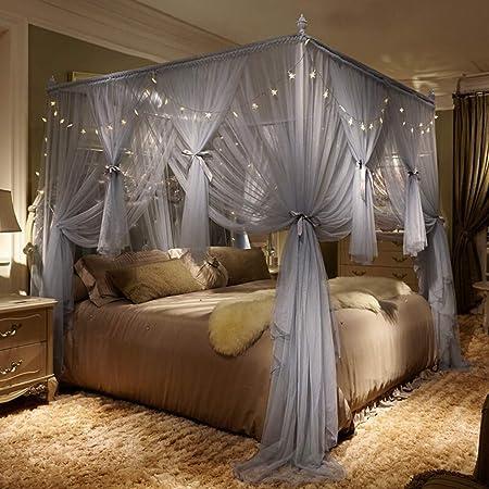 Tende Per Letto A Baldacchino.Princess Simple Palace Bed Zanzariera 3 Aperture Elegante Letto