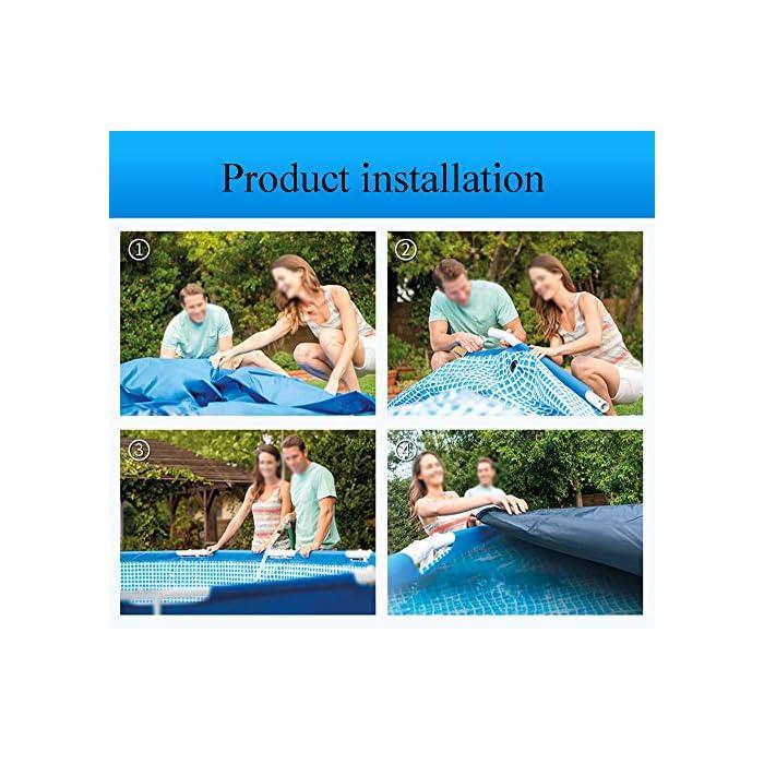 61VVb3o0sFL ▶ Tamaño del producto: el tamaño de la piscina es de 366 * 76 cm, y la capacidad de almacenamiento de agua es de 2006L, que es adecuada para que los niños jueguen en casa. Ideal para los calurosos días de verano. La doble función de entretenimiento y rompecabezas también es un buen regalo para los niños. ▶ Tela de malla de tres capas: malla de tres capas, material de PVC hecho de natación de alta resistencia, duradera y confiable ▶ Soporte metálico de electrochapado antioxidante: la piscina está conectada con tubos de electrochapado antioxidante para prolongar la vida útil