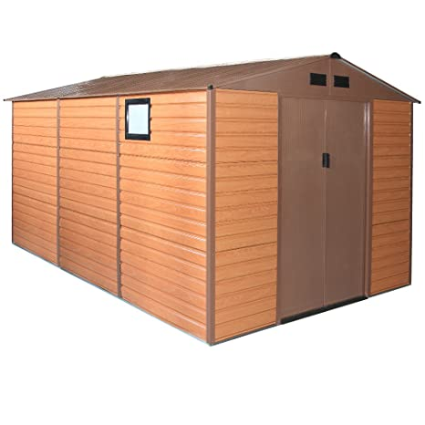 Box casa casa jardín de doble espesor de chapa x 340 382 xh225cm FOREST XXL-