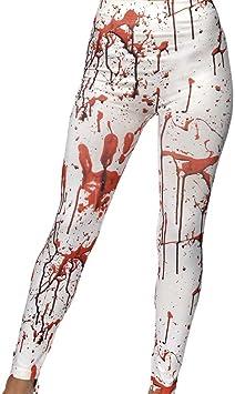 Amakando Pantalones Halloween Terror Leggings Zombie sangrientos ...