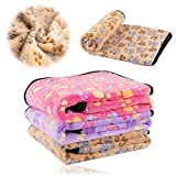 kiwitatá® Dog Blanket Soft Pet Puppy Cat Cozy Sleeping Cushion Mat Washable Warm Bed Blankets Crate Pads for Small Animals (Small, Brown)