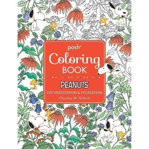 Amazon Com Posh Adult Coloring Book Peanuts For Inspiration