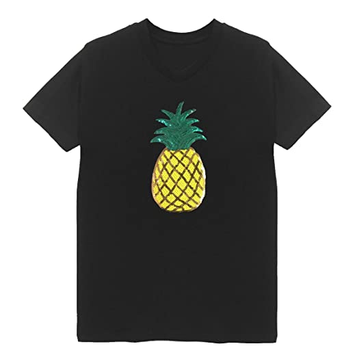 f524416196c Pineapple Patch V Neck T-Shirt Plus Size Unisex Bling Handmade Top (Small)