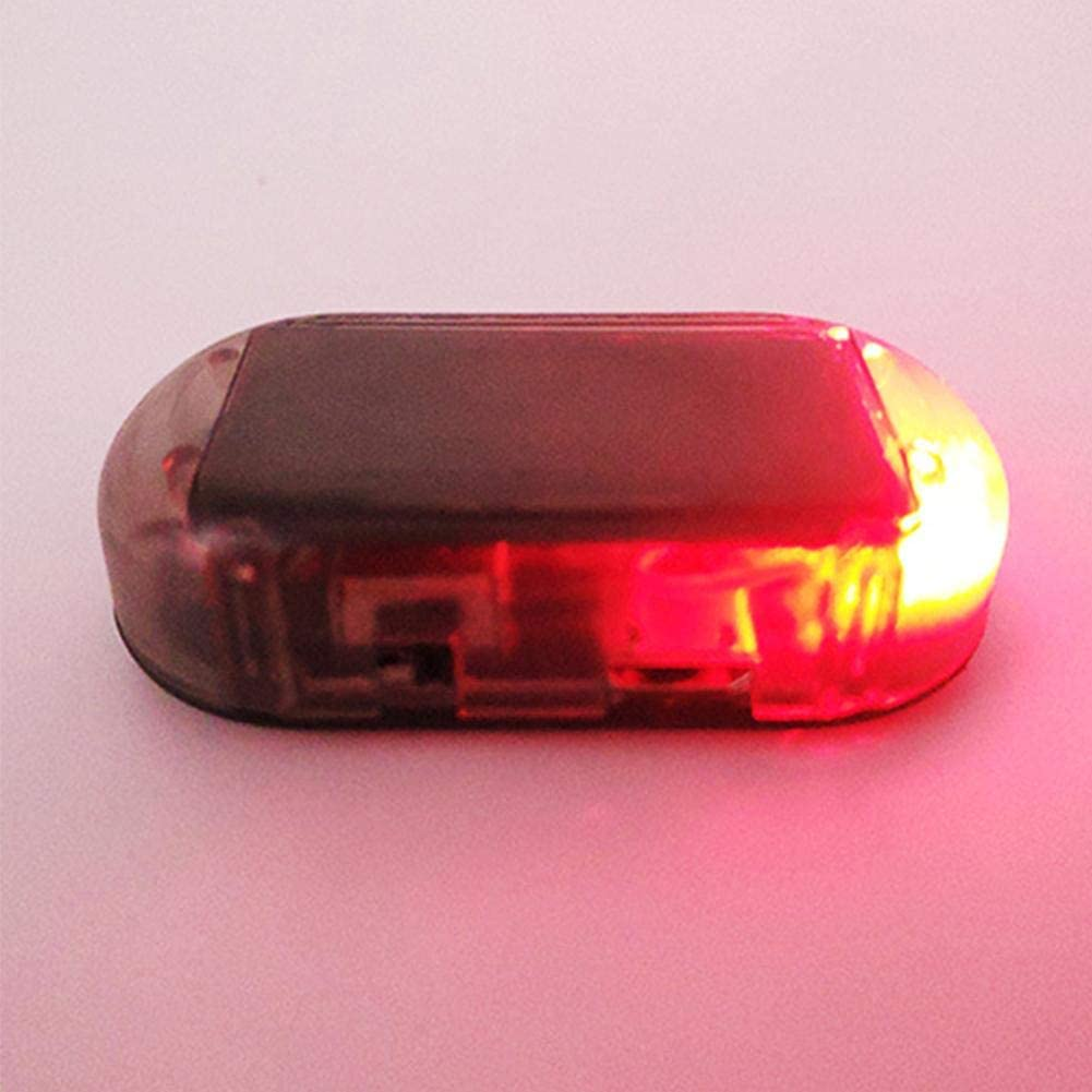 Niome Car Anti-Theft Caution Lamp Led Flashing Imitation Wireless Antitheft System Auto Security Lights Warning System Set Anti Theft Light Red