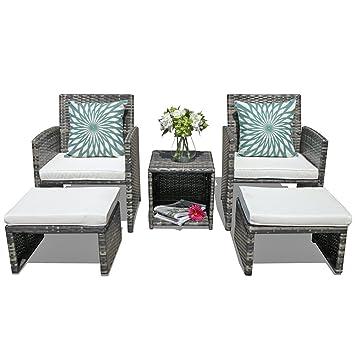 Amazon Com Orange Casual 5 Pcs Outdoor Patio Furniture Set All