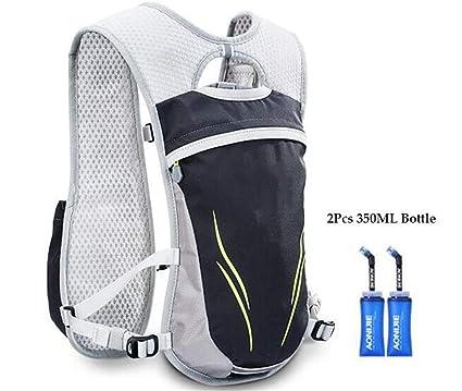 XUSHSHBA Running Marathon Hydration Nylon 5.5L Outdoor Running Bags Hiking Backpack Vest Marathon Cycling Backpack