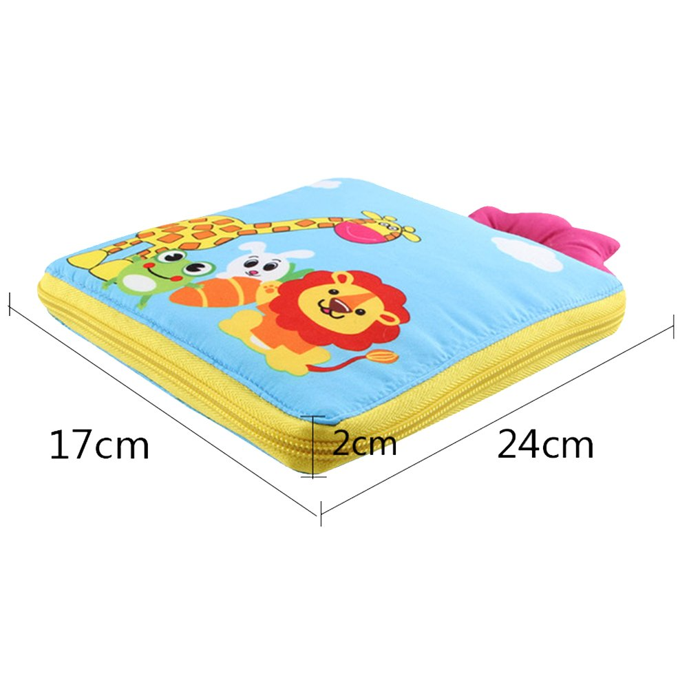 Button Lace /& Tie Buckle Zip Willcome Soft Learn to Dress Book for Baby Toddlers Early Learning Basic Life Skills Toy Snap