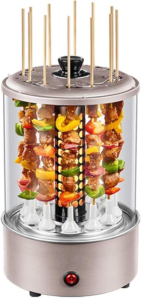 Opinión sobre JZH-Wine set Asador Eléctrico Parrilla 1100 W Barbacoa Cocina Kebab Pollo Cocinar Verduras Barbacoa Máquina para Electrodomésticos Brocheta Cocina Apta para 3-6 Personas