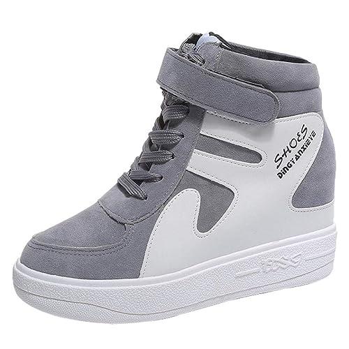 Zapatillas de Cuña Plataforma Deportivo de Terciopelo para Mujer Otoño Invierno 2018 Moda PAOLIAN Cómodos Zapatos de Alta Ayuda Señora Casual Calzado ...