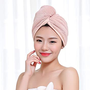 04aa98b94c1 Microfiber Hair Towel for Women,Soft Polyester Cotton Quick Dry Hair Drying  Towels Ultra Water