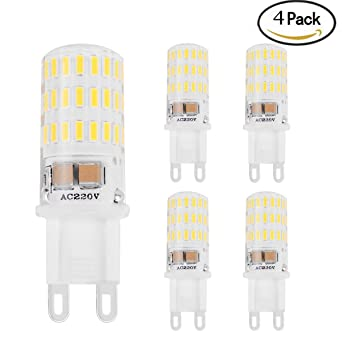 DaSinKo Bombillas LED G9 5W Equivalentes a Lámparas Halógenas de 45W, Blanco frío,Haz