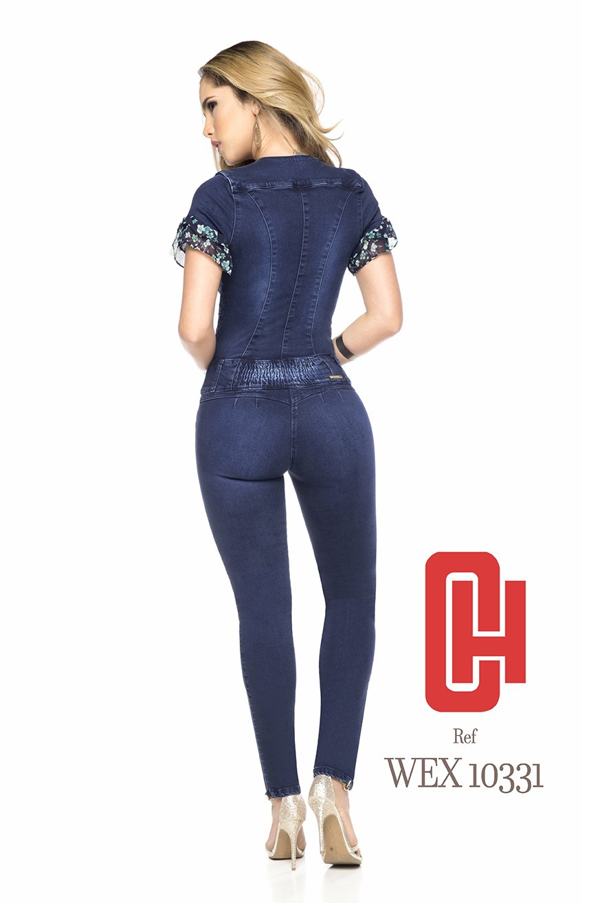 9900aecd93e4 Amazon.com  Made In Colombia ENTERIZO CHEVIOTTO Jeans Colombiano - Jumpsuits  Ref 10223 (14 COL 9 10 USA)  Sports   Outdoors