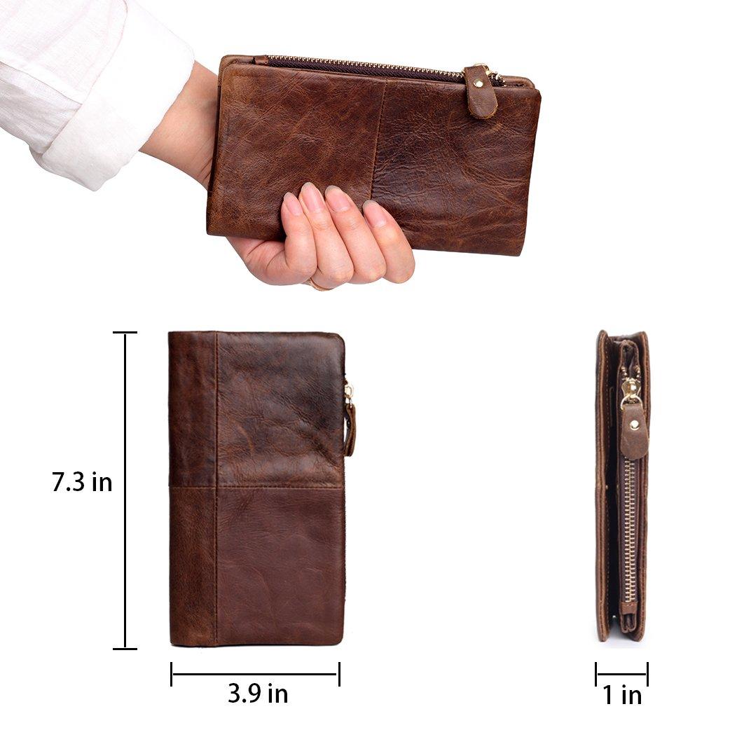 Amazon.com: Bifold Wallet portafolios cierre de cremallera ...