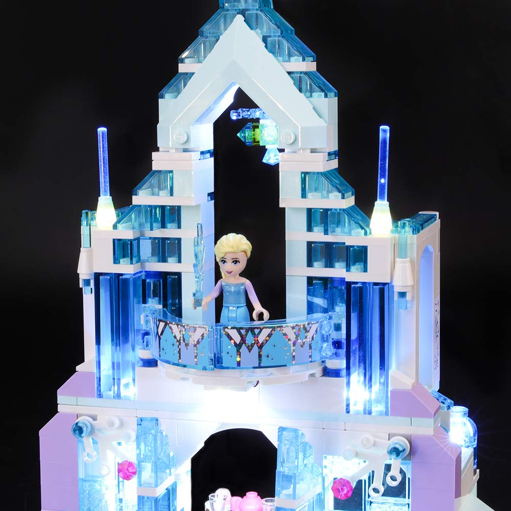 BRIKSMAX Led Lighting Kit for Frozen Elsas Magical Ice Palace Not Include The Lego Set Compatible with Lego 41148 Building Blocks Model
