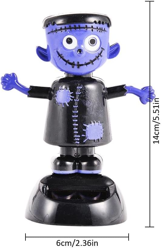Chalkalon Solar Tanzen Spielzeug Halloween Solarbetriebene Schaukel Animierte Geisterpuppe Hexe Spielzeug Solarauto Armaturenbrett Ornamente Startseite Halloween Dekoration