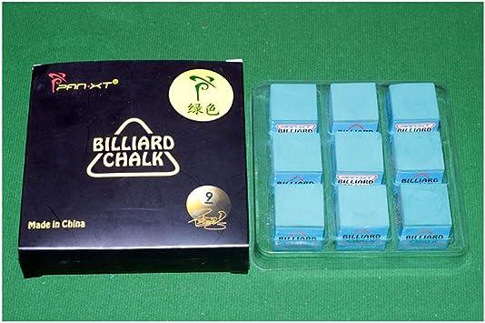 WXS Tizas de Billar, Caja de 9 Cubos de Pool Cue/Billiard Chalk Accesorios de Billar para Billar Snooker (Color : #1): Amazon.es: Deportes y aire libre