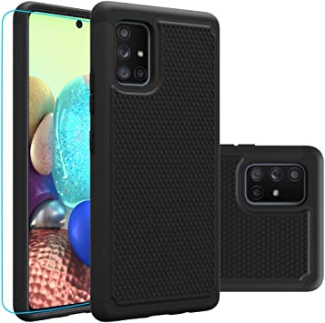Amazon Com Galaxy A71 5g Case Not Fit A71 5g Uw Verizon With Hd Screen Protector Giner Dual Layer Heavy Duty Military Grade Armor Defender Protective Phone Case Cover For Samsung Galaxy A71 5g Black Armor
