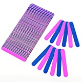 100 Pack Disposable Nail Files Professional Beauty Care Double Sided Emery Boards Manicure Tools Salon Grit Nail Buffer Buffing