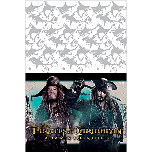 - Amscan Disney Pirates of The Caribbean Plastic Table Cover, Party Favor, One Size, Multicolor