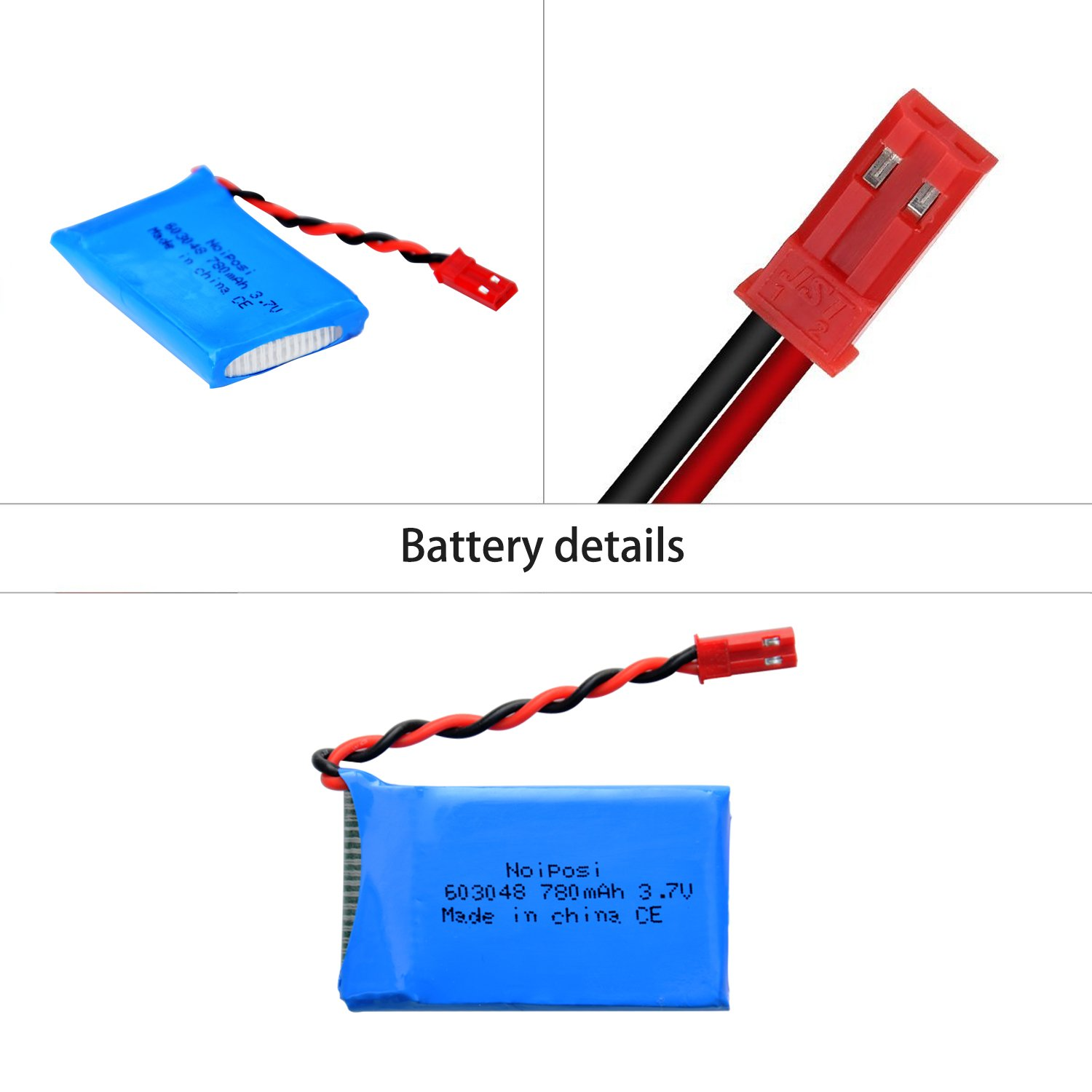 Noiposi 4pcs 37v 780mah 20c Lipo Battery With X6 Nbsc Wiring Instructions Charger For Wltoys V636 Quadcopter Toys Games