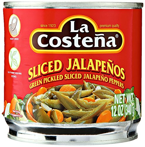 (La Costena Pickled Sliced Green Jalapeno Peppers, 12 oz)