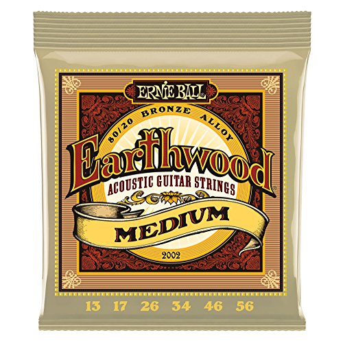 Ernie Ball Earthwood Medium 80/20 Bronze Acoustic Set, .013 - .056