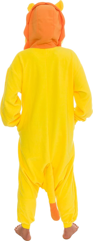 Silver Lilly Unisex Adult Pajamas Plush One Piece Cosplay Lion Animal Costume