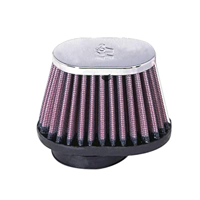 K&N Universal Clamp-On Air Filter: High Performance, Premium, Washable, Replacement Filter: Flange Diameter: 2 In, Filter Height: 2.75 In, Flange Length: 0.625 In, Shape: Oval Straight, RC-1820: Automotive