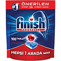 Finish Dishwasher Detergent Tablets, All IN ONE MAX, 100 TABS