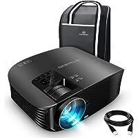 VANKYO Leisure 510 Vidéoprojecteur Rétroprojecteur 3600 Lumens LED Projecteur Soutien HD 1080p ,200 '' Affichage, HDMI, AV, VGA et USB Noir