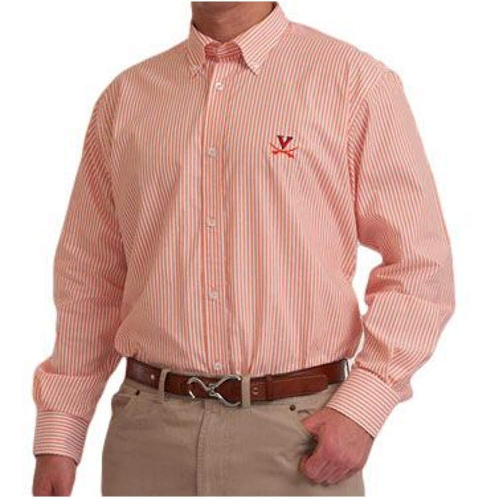 Pennington and Bailes NCAA Mens College Team Broad Stripe Button Down Shirt