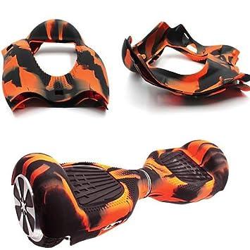 hunpta carcasa de silicona para 6,5 2 ruedas Smart Auto Equilibrio Scooter Hover Board, Orange 1: Amazon.es: Deportes y aire libre