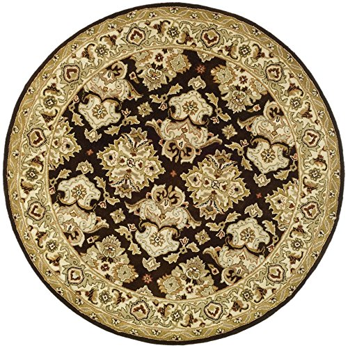 Oriental Rug Brown Round (Safavieh Heritage Collection HG817B Handcrafted Traditional Oriental Espresso and Ivory Wool Round Area Rug (3'6