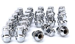 dynofit 24pcs 14x1.5 OEM/Stock Lug Nuts for 2015-2019 Expedition/F-150, M14-1.5 One-Piece Design Factory Chrome Wheel Lugnuts for Lincoln 2016-2018 MKX, 21mm Hex Anti-Rusting Updated