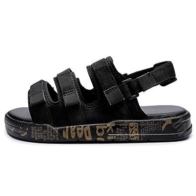 9942bf1d746 Homme Sandale Chaussure pour Plage Mer Bout Ouvert Respirant Chaussure de  Sport Outdoor Loisir Antidérapant Noir
