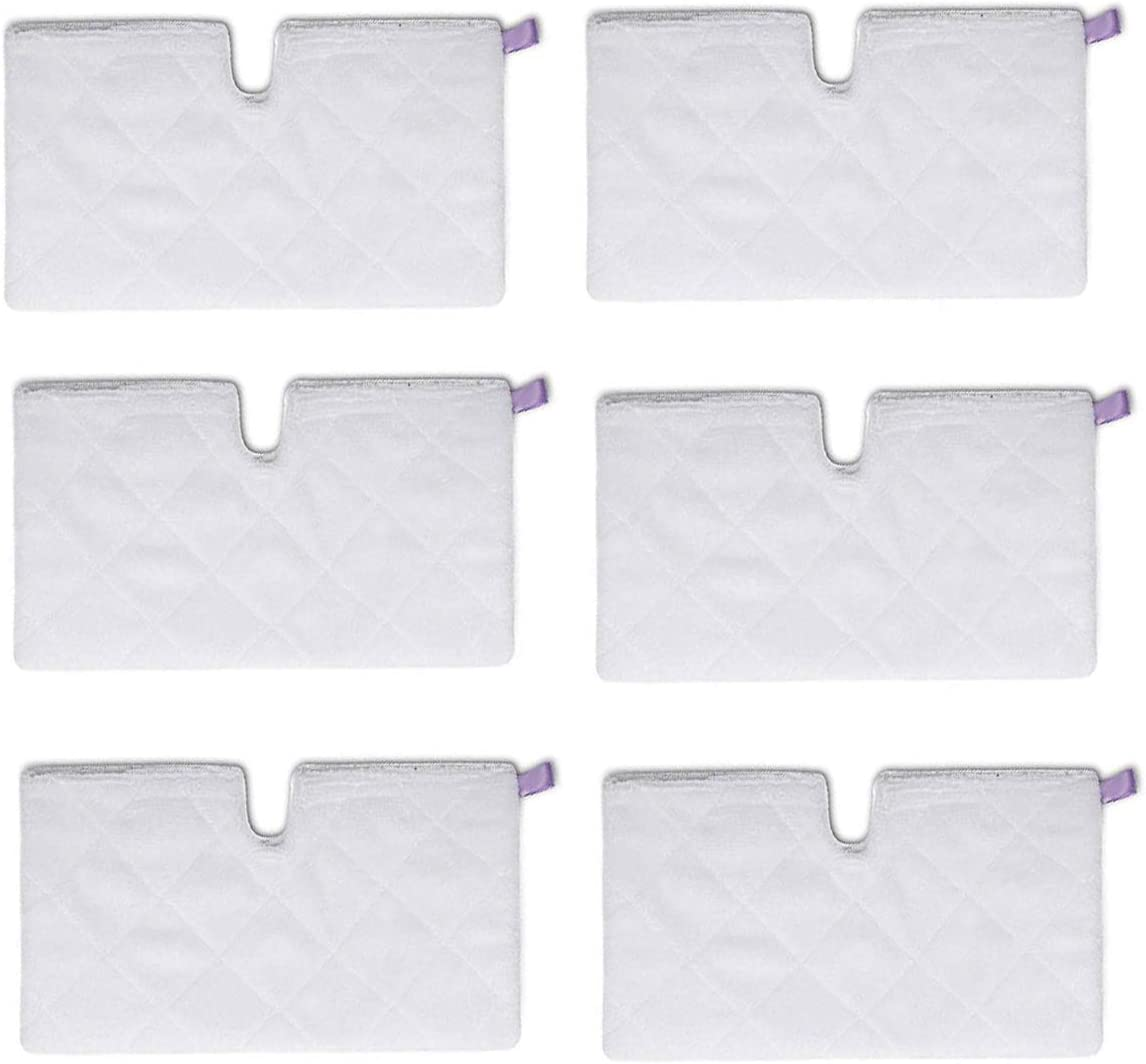 LICORNE 6 pcs Steam Mop Cleaning Pads Replacement for Shark Euro Pro S3501 S3550 S3601 S3801 S3901