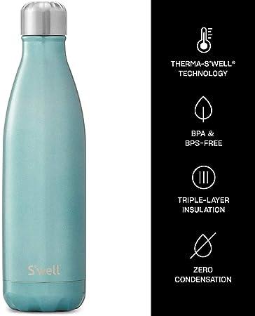 Cornflower azul Blue Botella de agua de acero inoxidable 18-8 500ml Swell Vacuum Insulated Stainless Steel Water Bottle